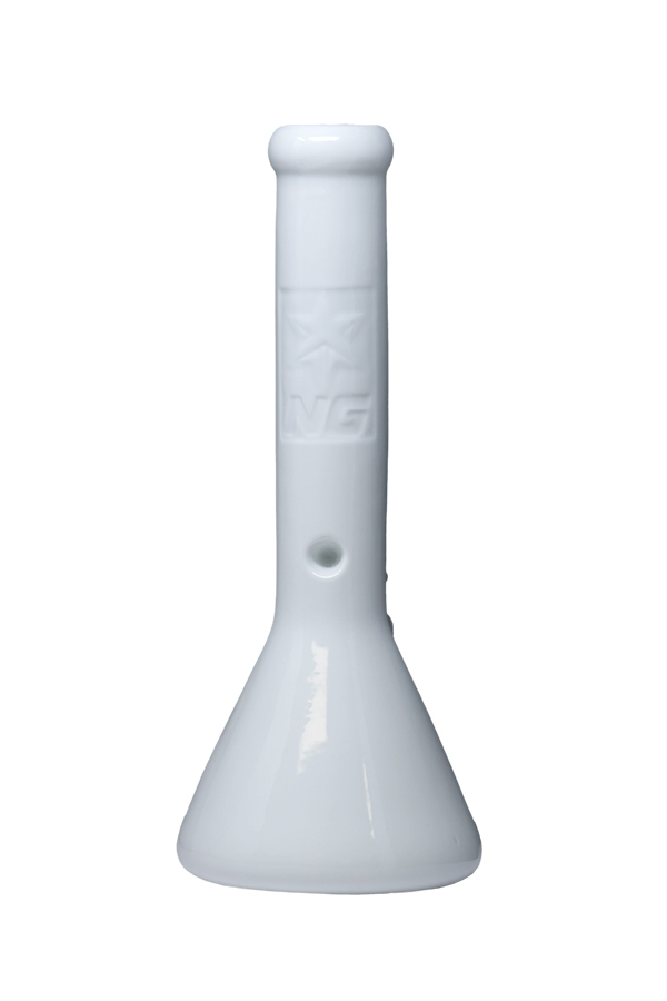 13 inch Light-Up White Ceramic Bong