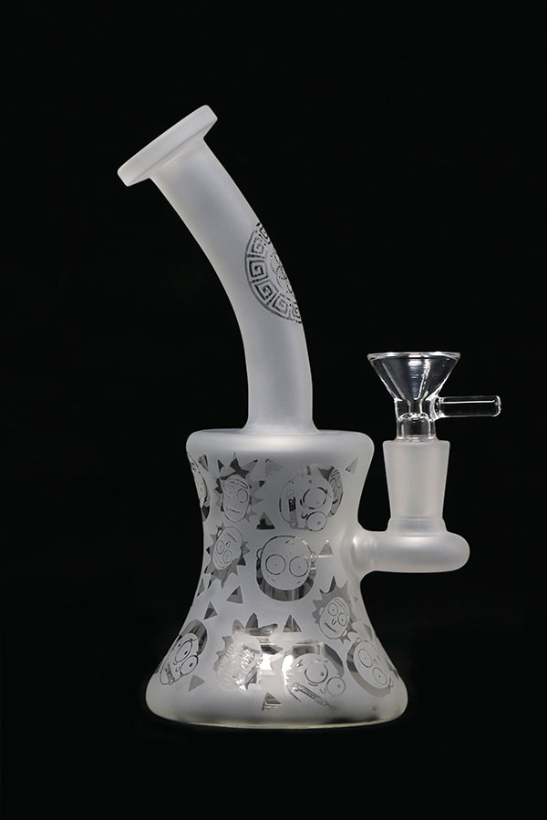 8 inch Sandblasted Rick and Morty Bubbler