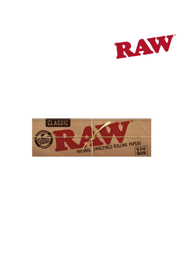 RAW CLASSIC Natural Unrefined Hemp Papers 1 1/4 Size