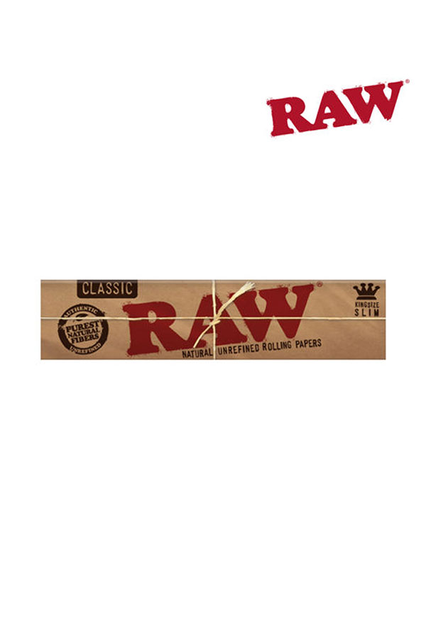 RAW CLASSIC Natural Unrefined Hemp Rolling Papers KING SIZE SLIM