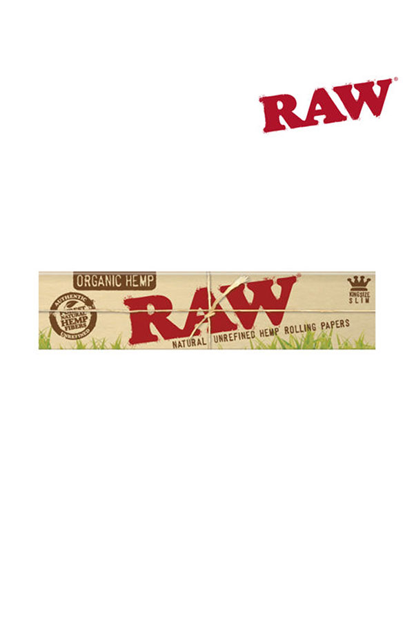RAW ORGANIC Natural Unrefined Hemp Rolling Papers KING SIZE SLIM