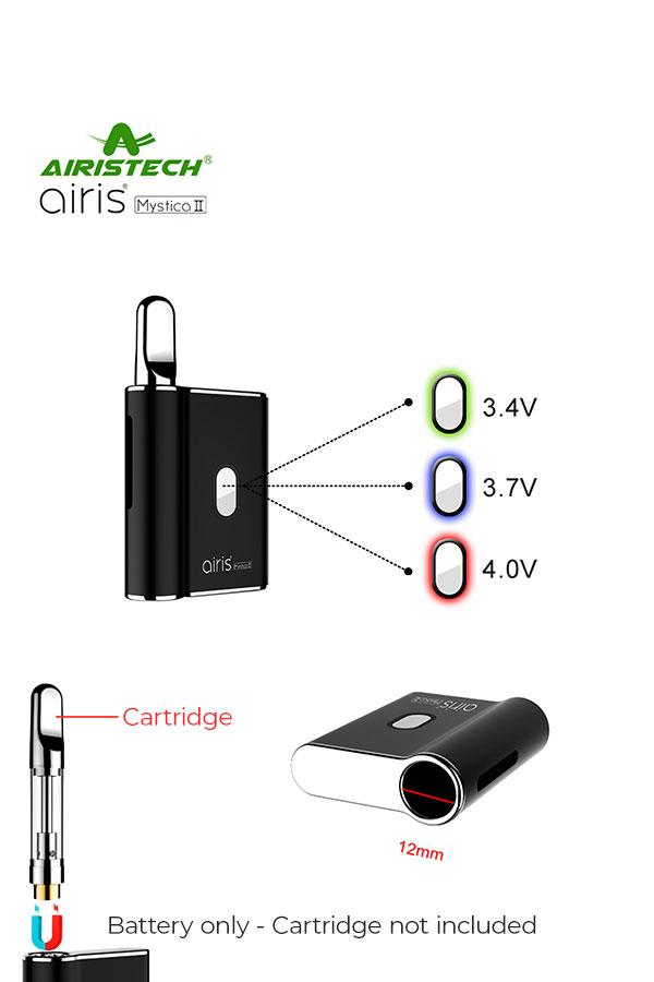 Airis Mystica II CBD Vape Pen Battery: Airistech